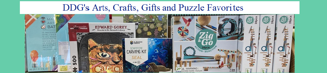 DDG's Arts, Gifts, Crafts and Puzzle Favorites